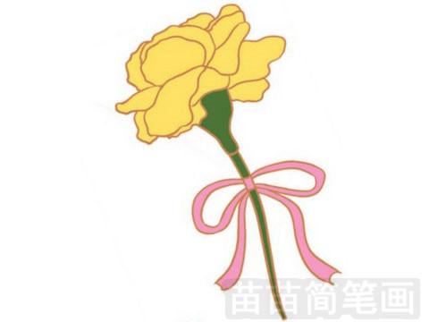 康乃馨简笔画图片大全作品一