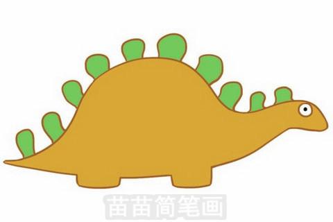 恐龙简笔画大图