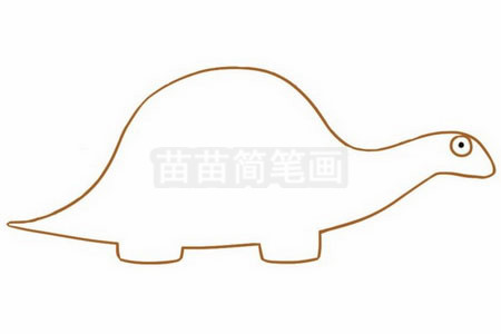 恐龙简笔画图片步骤二
