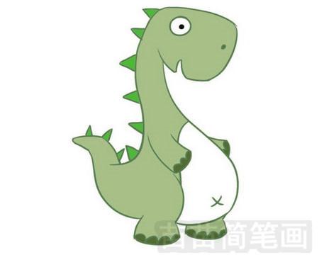 恐龙简笔画图片大全作品一