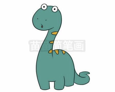 恐龙简笔画图片大全作品二