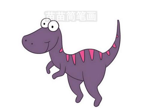 恐龙简笔画图片大全作品三
