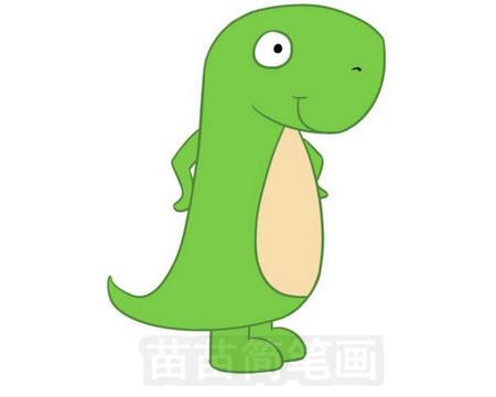 恐龙家族大灭绝_恐龙简笔画彩色图片大全、教程