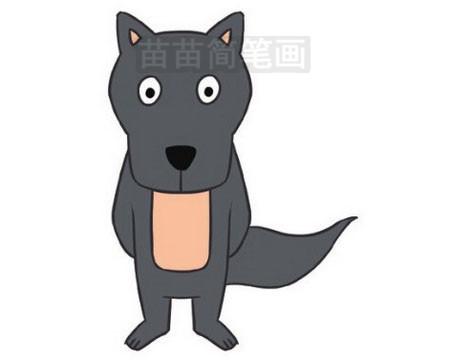 大灰狼简笔画图片大全,教程图片