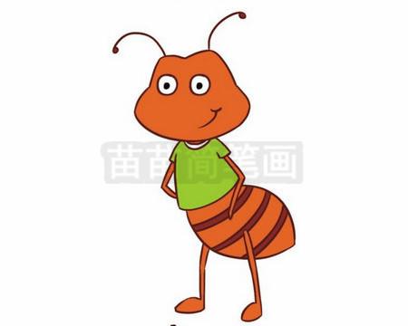 蚂蚁简笔画图片大全作品二