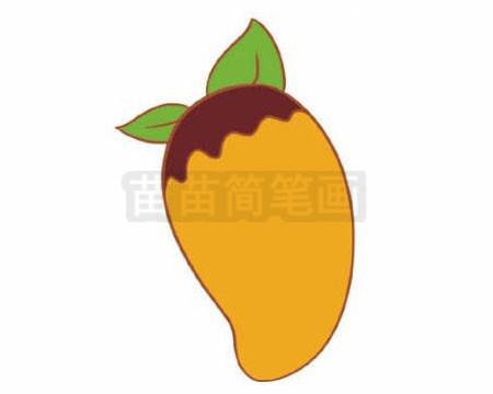 菠萝蜜卡通简笔画