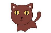 小猫简笔画图片大全、教程