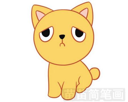 小猫简笔画图片大全 教程