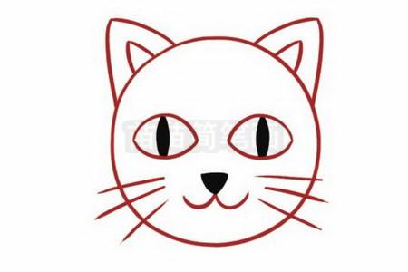 猫咪简笔画彩色图片大全,教程