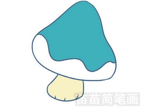 蘑菇简笔画图片大全作品一
