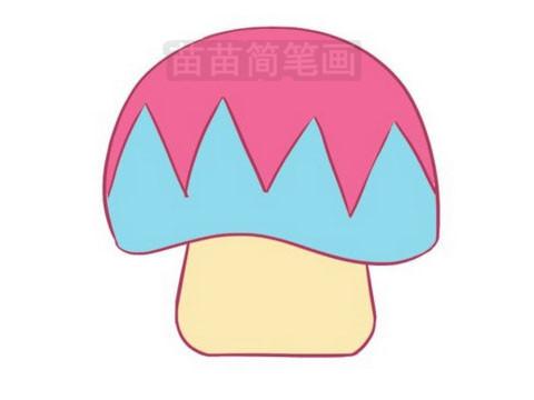 蘑菇简笔画图片大全作品三