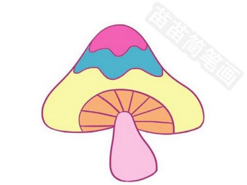 蘑菇简笔画图片大全作品四