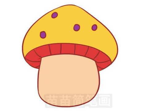 蘑菇简笔画图片大全作品五