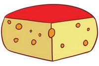 奶酪简笔画图片大全、画法