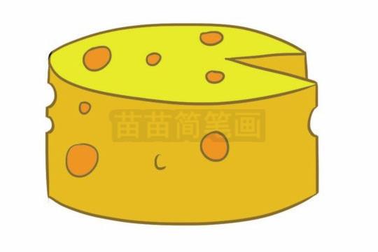 奶酪简笔画图片大全 画法