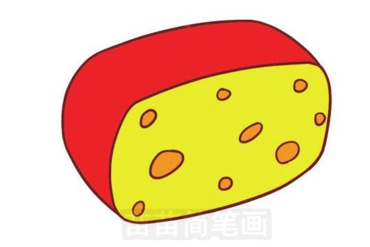 奶酪简笔画图片大全,画法
