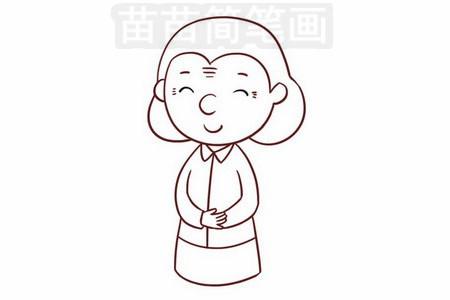 简笔画 人物简笔画 卡通人物简笔画 正文内容 奶奶小知识 老奶奶