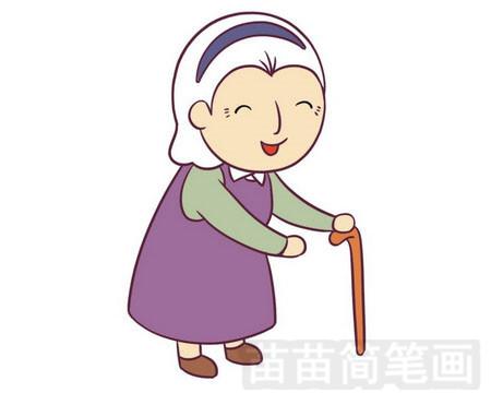 奶奶简笔画图片大全 画法