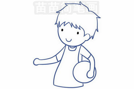 卡通人物简笔画 >> 正文内容   男青年简笔画分步骤画法是:画出脸型