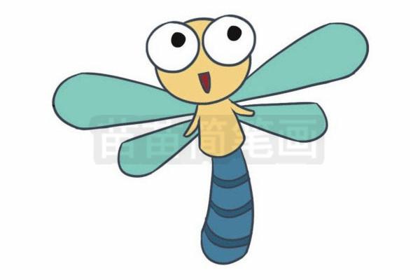 蜻蜓简笔画图片步骤七