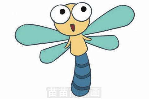 蜻蜓简笔画大图