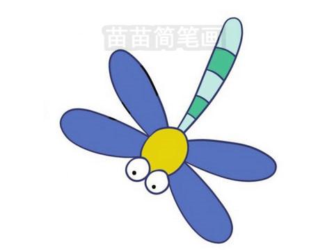 蜻蜓简笔画图片大全作品三