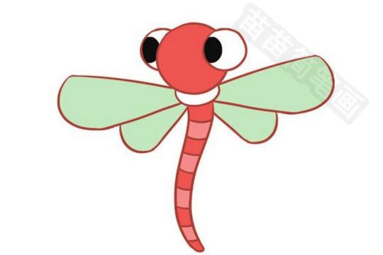 蜻蜓简笔画彩色图片大全 教程