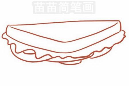三明治简笔画图片大全 画法