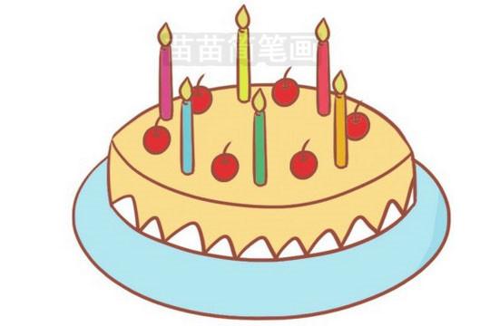 生日蛋糕简笔画图片大全作品三