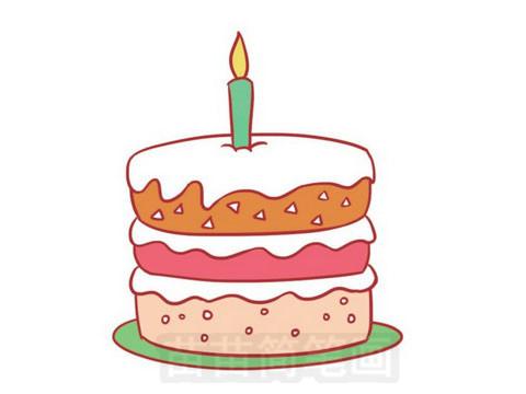 生日蛋糕简笔画图片大全作品五