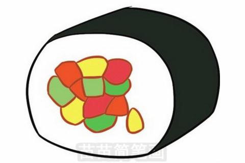 寿司简笔画大图