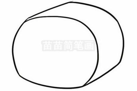 寿司简笔画图片步骤二