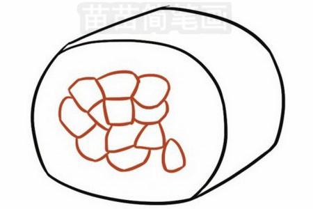 寿司简笔画图片步骤三