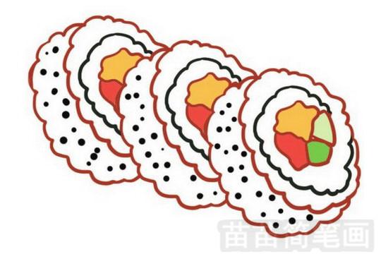 寿司简笔画怎么画 图片大全
