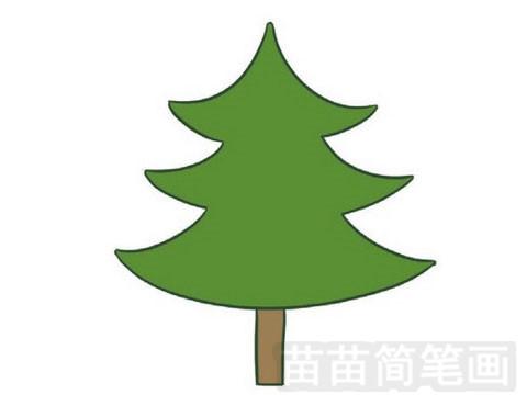 松树简笔画图片大全 画法