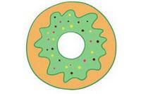 卡通甜甜圈简笔画图片大全、教程