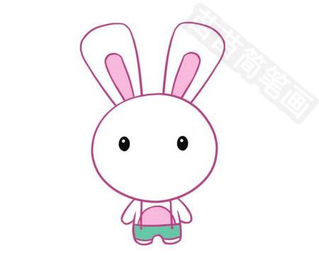 兔子简笔画彩色图片大全 教程