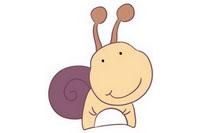 蜗牛简笔画彩色图片大全、教程