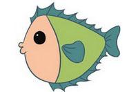 小鱼简笔画图片大全、教程