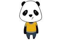 卡通熊猫简笔画图片大全、教程