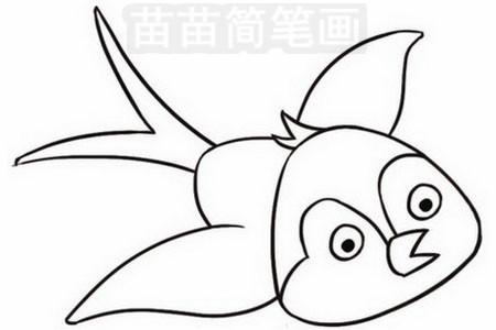 燕子简笔画彩色图片大全 教程