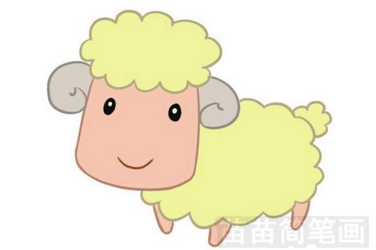 绵羊简笔画怎么画 图片大全