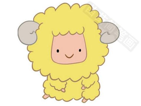 绵羊简笔画怎么画,图片大全图片