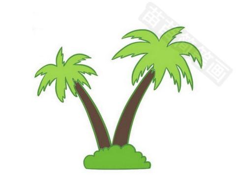 椰子树简笔画图片大全作品四