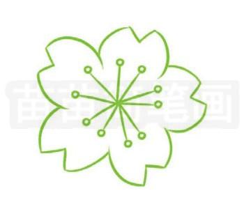 简笔画 风景简笔画 植物花卉简笔画 >> 正文内容   樱花小知识:花常于