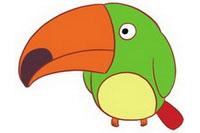 鹦鹉简笔画彩色图片大全、教程
