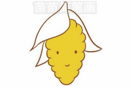 玉米简笔画图片步骤三