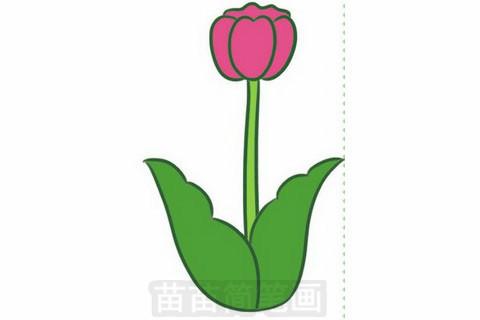 >> 正文内容   郁金香简笔画分步骤画法是:画出郁金香的花朵,画出叶茎