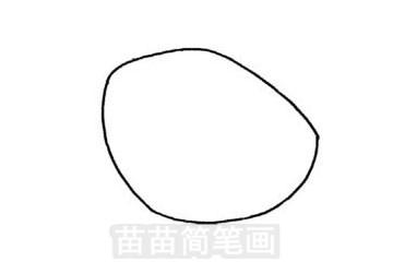 霸王龙简笔画图片步骤一