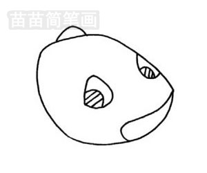 霸王龙简笔画图片步骤二